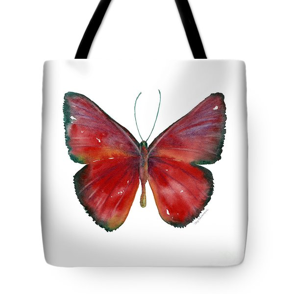 16 Mesene Rubella Butterfly Tote Bag by Amy Kirkpatrick