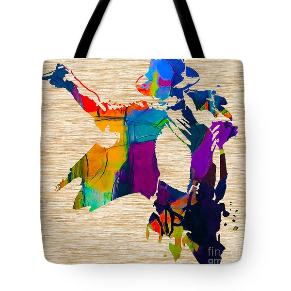 Michael Jackson Tote Bag by Marvin Blaine
