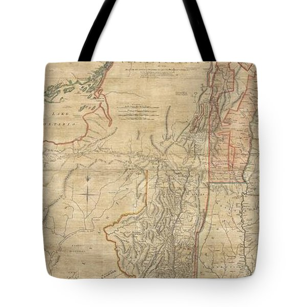 1768 Holland  Jeffreys Map Of New York And New Jersey  Tote Bag by Paul Fearn