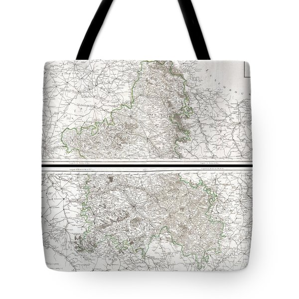1797 Tardieu Map Of Champagne France Tote Bag by Paul Fearn