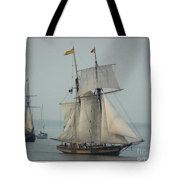 1812 Pride Of Baltimore II Tote Bag by Marcia Lee Jones