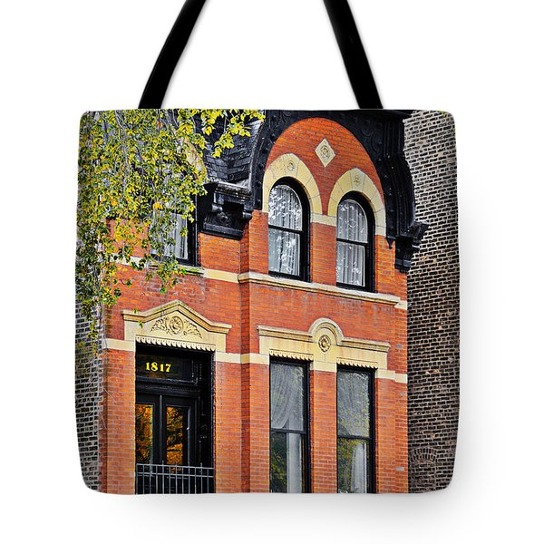 1817 N Orleans St Old Town Chicago Tote Bag by Christine Till