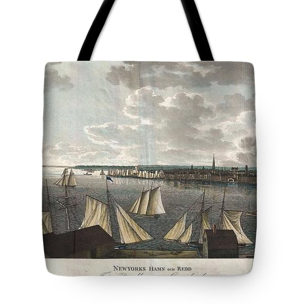 1824 Klinkowstrom View of New York City from Brooklyn  Tote Bag by Paul Fearn