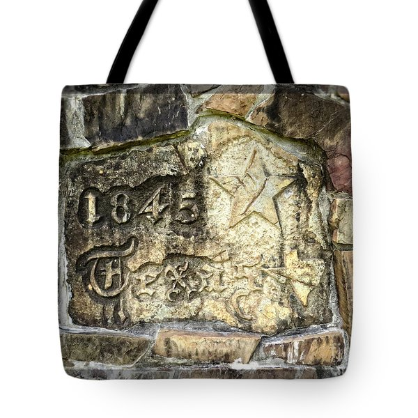 1845 Republic of Texas - Carved in Stone Tote Bag by Ella Kaye Dickey