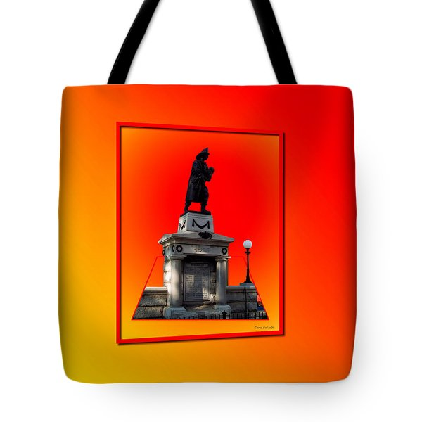 1898 Firemen Memorial Tote Bag by Thomas Woolworth