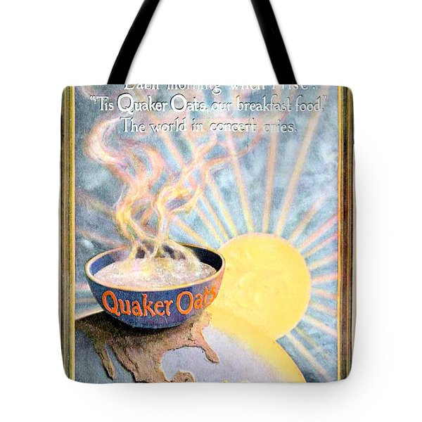 1906 - Quaker Oats Cereal Advertisement - Color Tote Bag by John Madison