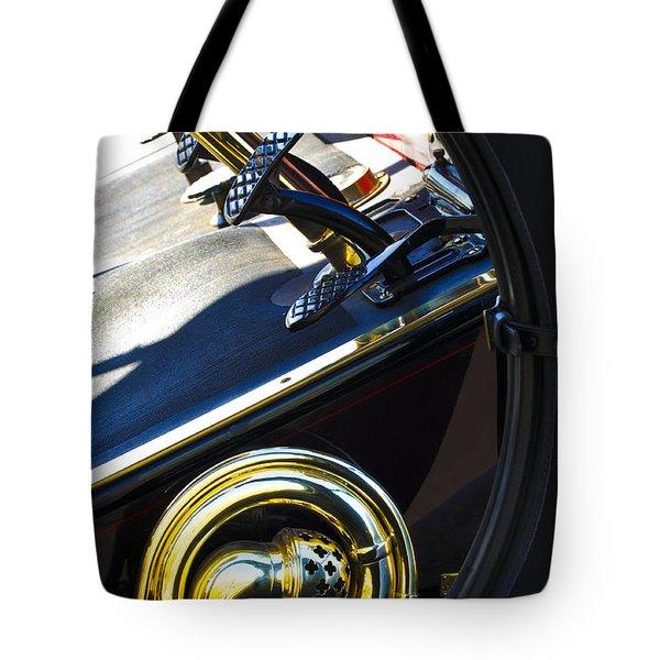 1907 Panhard et Levassor Demi Toneau 38 HP Horn Tote Bag by Jill Reger