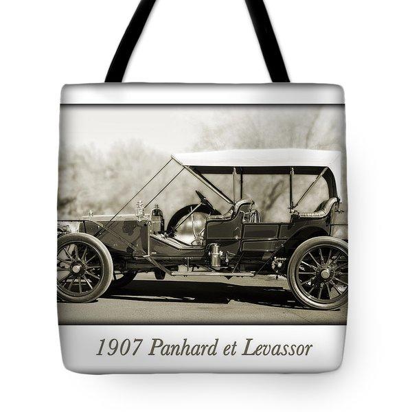 1907 Panhard et Levassor Tote Bag by Jill Reger