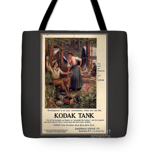 1907 Vintage Kodak Tank Advertising Tote Bag by Anne Kitzman