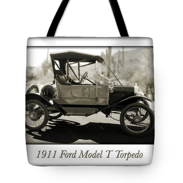 1911 Ford Model T Torpedo Tote Bag by Jill Reger