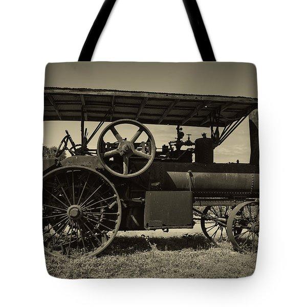 1921 Aultman Taylor Tractor Tote Bag by Debra and Dave Vanderlaan