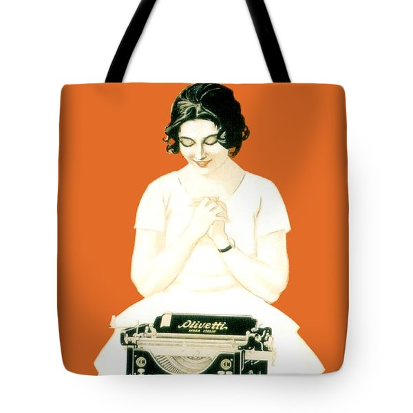 1924 - Olivetti Typewriter Advertisement Poster - Color Tote Bag by John Madison