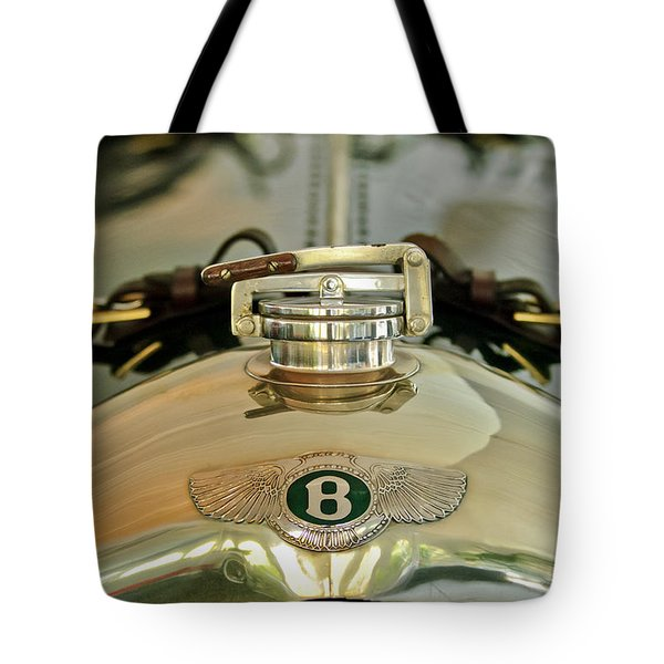 1925 Bentley 3-Liter 100mph Supersports Brooklands Two-Seater Radiator Cap Tote Bag by Jill Reger