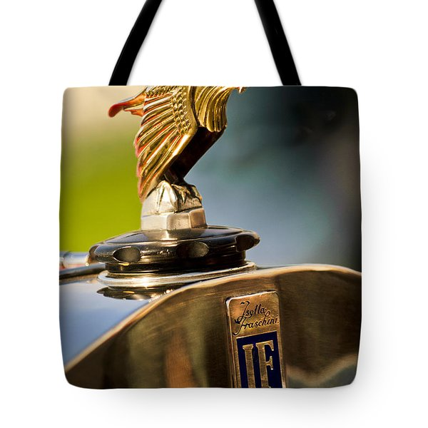 1925 Isotta Fraschini Tipo 8A S Corsica Boattail Speedster Hood Ornament Tote Bag by Jill Reger