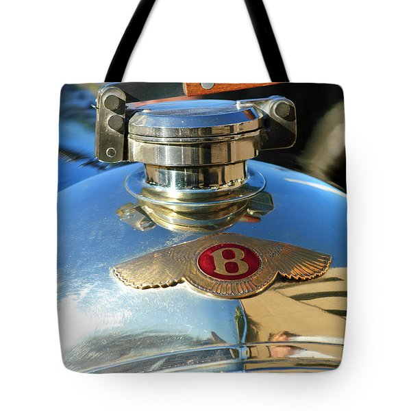 1927 Bentley Hood Ornament Tote Bag by Jill Reger