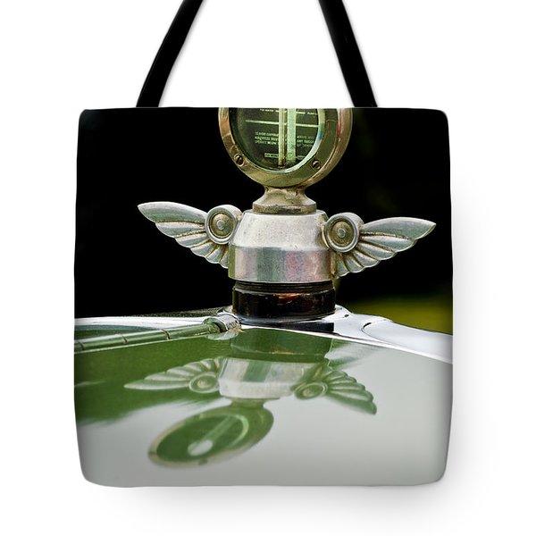 1927 Chandler 4-door Hood Ornament Tote Bag by Jill Reger