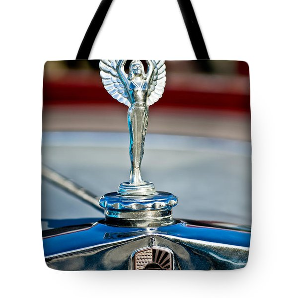 1928 Nash Coupe Hood Ornament 2 Tote Bag by Jill Reger