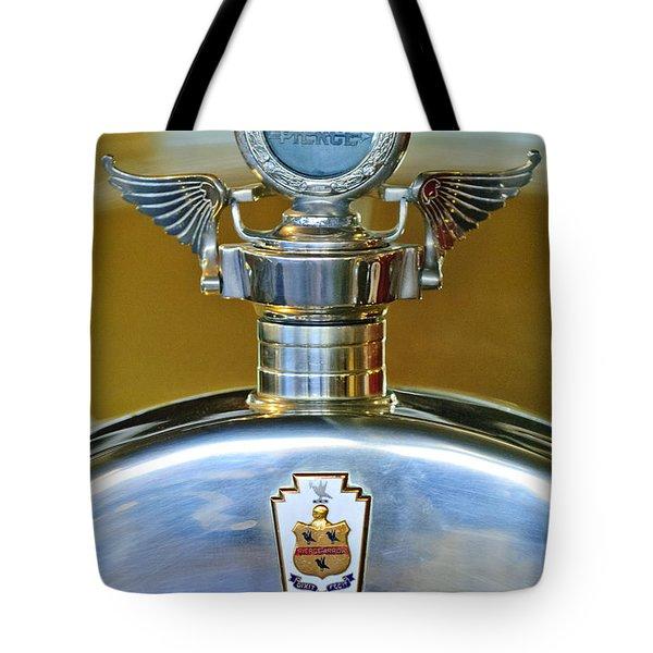 1928 Pierce-arrow Hood Ornament Tote Bag by Jill Reger
