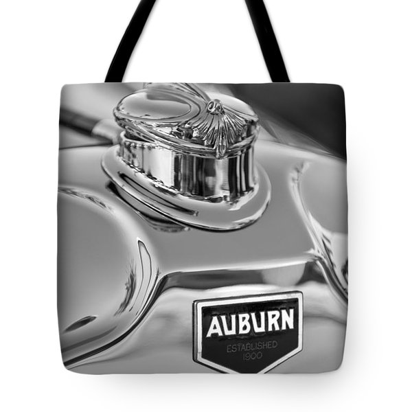 1929 Auburn 8-90 Speedster Hood Ornament 2 Tote Bag by Jill Reger