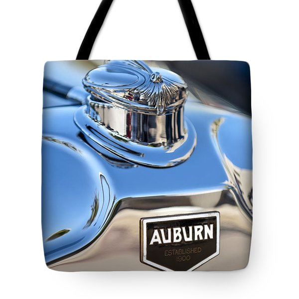 1929 Auburn 8-90 Speedster Hood Ornament Tote Bag by Jill Reger