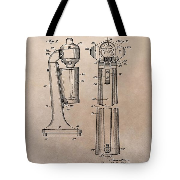 1930 Drink Mixer Patent Tote Bag by Dan Sproul