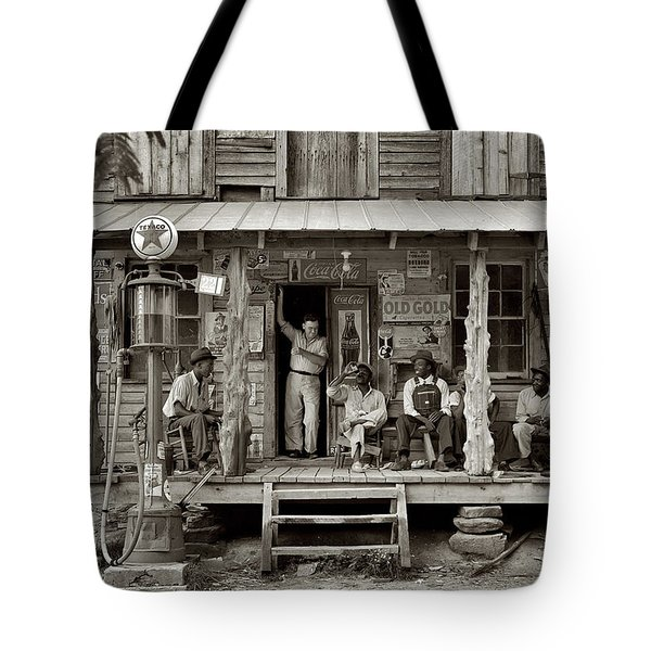 1930's Southern Gas Station Tote Bag by Digital Reproductions