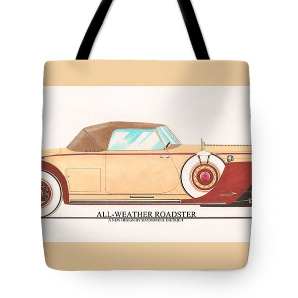 1932 Packard All Weather Roadster By Dietrich Concept Tote Bag by Jack Pumphrey