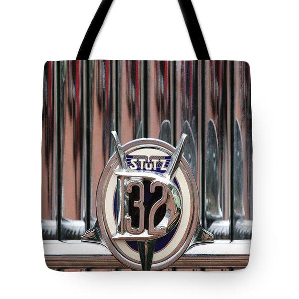 1932 Stutz Dv-32 Super Bearcat Emblem Tote Bag by Jill Reger