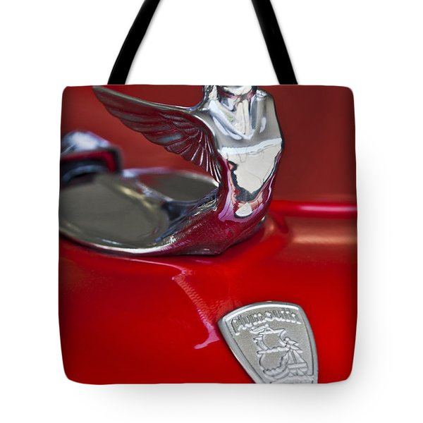 1933 Plymouth Hood Ornament Tote Bag by Jill Reger