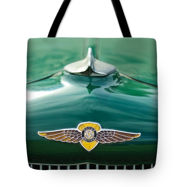1934 Dodge Hood Ornament Emblem Tote Bag by Jill Reger