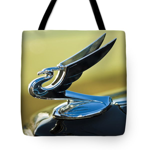 1935 Chevrolet Sedan Hood Ornament 2 Tote Bag by Jill Reger