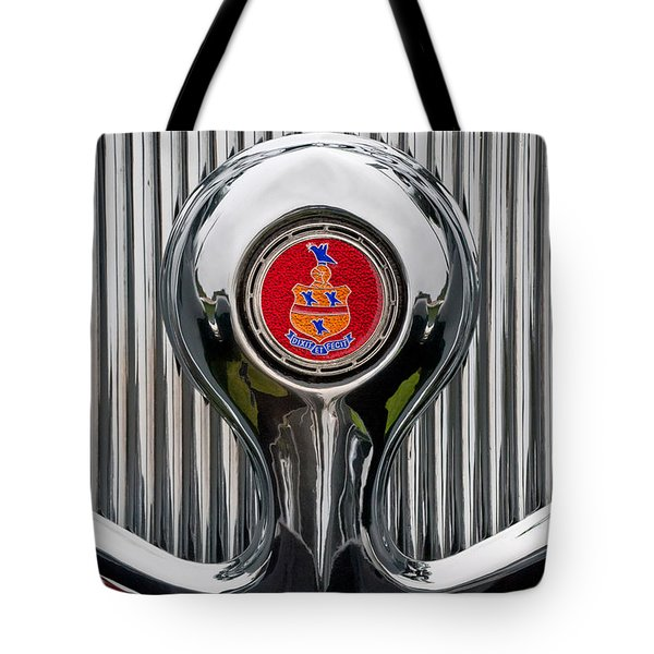 1935 Pierce-Arrow 845 Coupe Emblem Tote Bag by Jill Reger