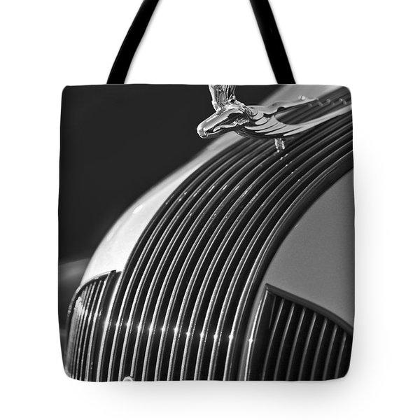 1935 Pontiac Sedan Hood Ornament 3 Tote Bag by Jill Reger