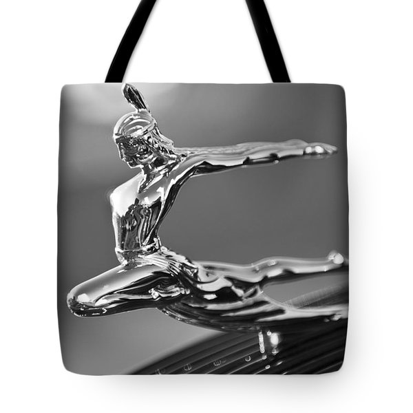 1935 Pontiac Sedan Hood Ornament 4 Tote Bag by Jill Reger