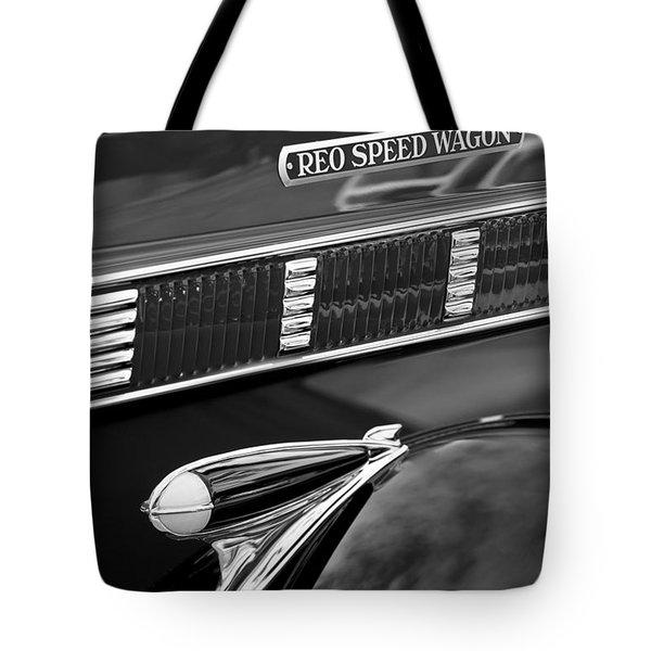 1935 Reo Speed Wagon 6AP Pickup Emblem Tote Bag by Jill Reger