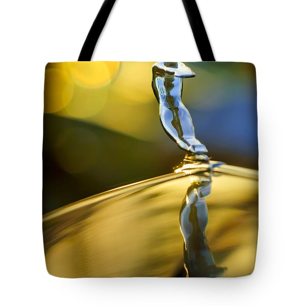 1936 Cadillac Hood Ornament Tote Bag by Jill Reger
