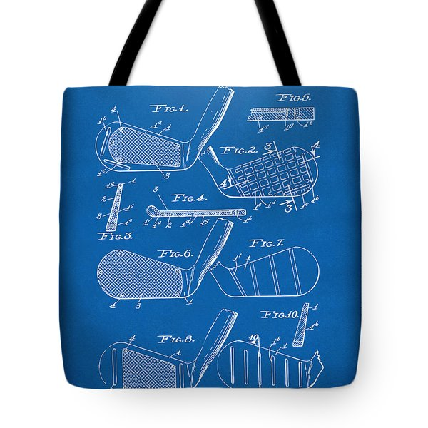 1936 Golf Club Patent Blueprint Tote Bag by Nikki Marie Smith