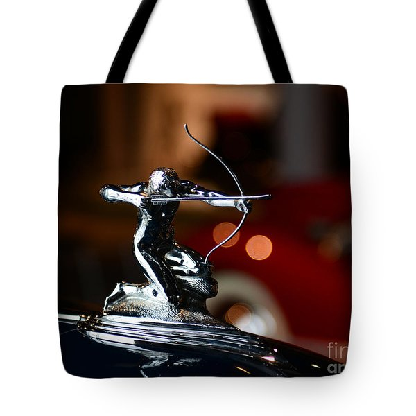 1936 Pierce Arrow Hood Ornament Tote Bag by Paul Ward