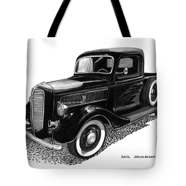 1937 Ford Pick Up Truck Tote Bag by Jack Pumphrey