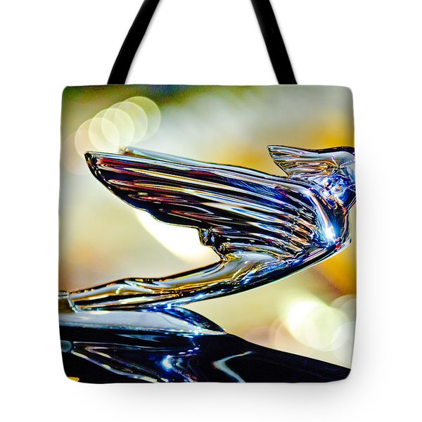 1938 Cadillac V-16 Hood Ornament 2 Tote Bag by Jill Reger