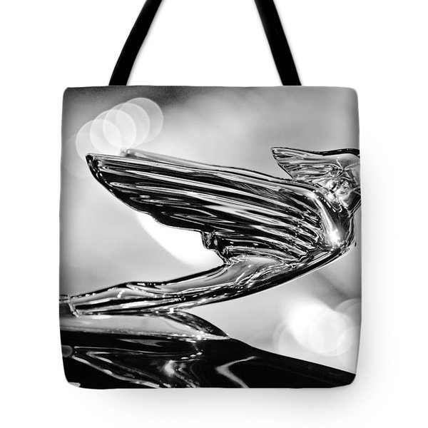 1938 CadillacV-16 Hood Ornament Tote Bag by Jill Reger
