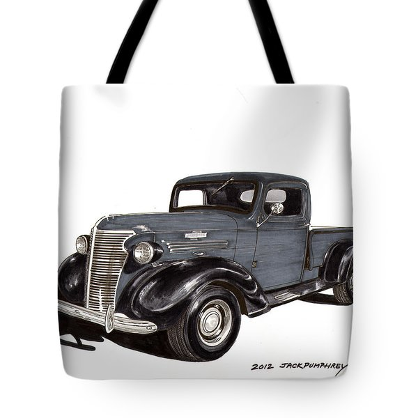 1938 Chevy Pickup Tote Bag by Jack Pumphrey