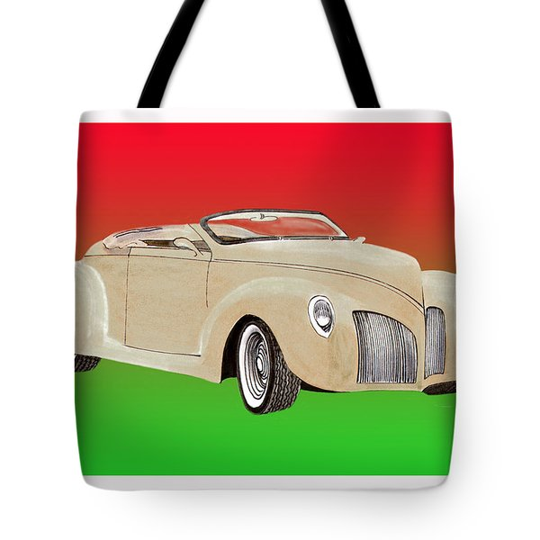 1939 Lincoln Zephyr Speedster Tote Bag by Jack Pumphrey