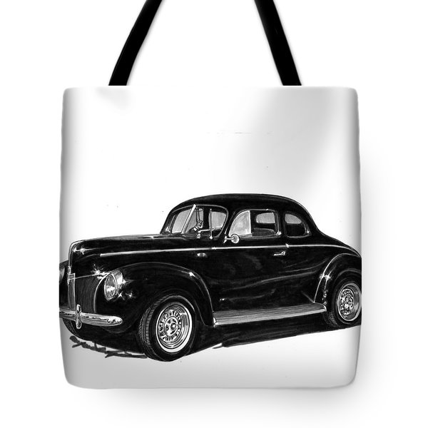 1940 Ford Restro Rod Tote Bag by Jack Pumphrey