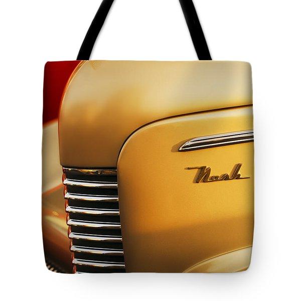 1940 Nash Sedan Grille Tote Bag by Jill Reger