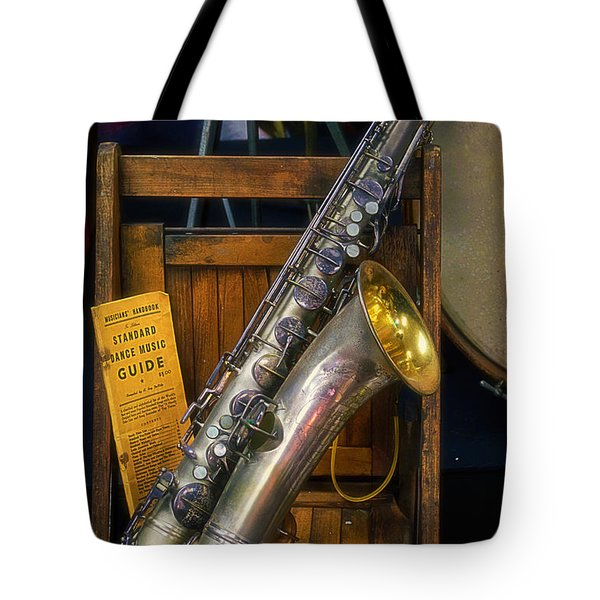 1940ish Saxophone Tote Bag by Thomas Woolworth