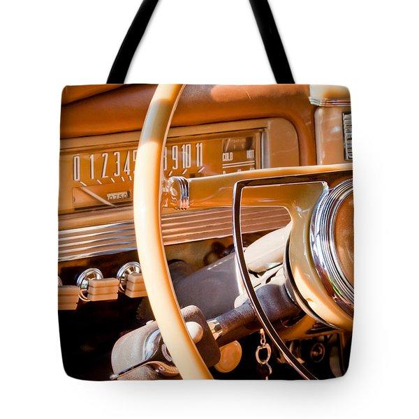 1942 Packard Darrin Convertible Victoria Steering Wheel Tote Bag by Jill Reger