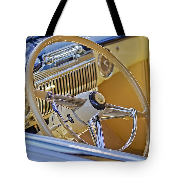 1947 Cadillac 62 Steering Wheel Tote Bag by Jill Reger