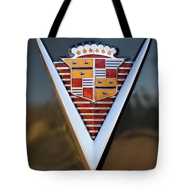 1947 Cadillac Emblem Tote Bag by Jill Reger