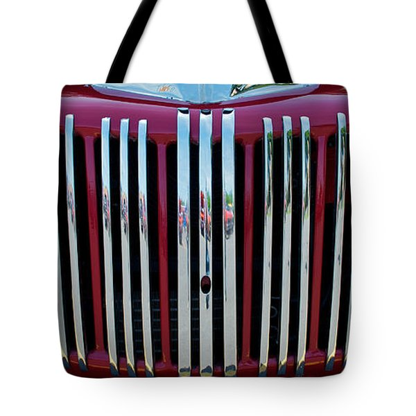 1947 Ford Truck Grill Tote Bag by Mark Dodd